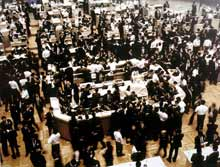Andreas Gursky, Stock Exchange, Tokyo, 1990