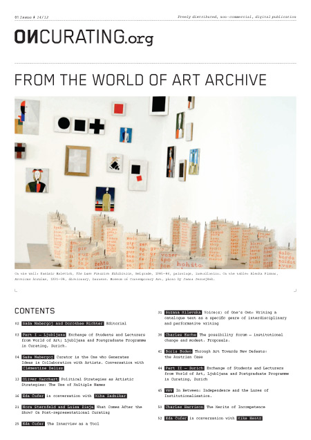 On Curating Issue 14