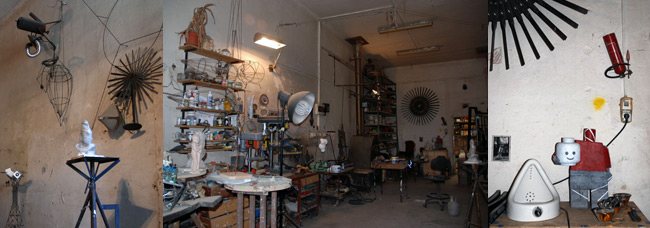 Studio of  Boštjan Drinovec, photo: Jasna Jernejšek