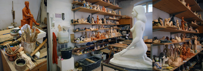 Studio of Boštjan Novak, photo: Jasna Jernejšek