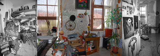 Studio of Tina Drčar, photo: Tina Drčar archive